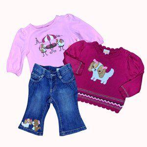 GYMBOREE Pink Poodle Set